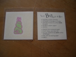 Carte Ricci Les Belles De Ricci Tatouage - Perfume Cards
