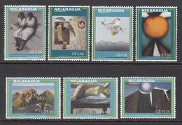 2003 Nicaragua Art Paintings Complete Set Of 7 MNH - Nicaragua