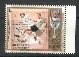 JV1) Sharjah MNH World Cup Football Soccer - ERROR ERREUR - Great Britain 1966 England 4 Germany 2 - Sin Clasificación