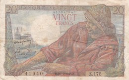 France - Billet De 20 Francs Type Pêcheur - 29 Janvier 1948 - 1871-1952 Anciens Francs Circulés Au XXème