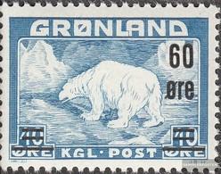 Dänemark - Grönland 37 MNH 1956 Polar Bear - Nuovi