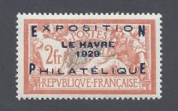 FRANCE 1929 EXPOSITION PHILATELIQUE DU HAVRE 2fr Nº 257A - France
