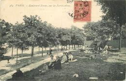 WW PARIS XIV. Déjeuners Sur Les Fortifications Boulevard Brune 1907 - Arrondissement: 14