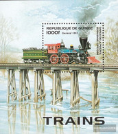 Guinea Block501 (complete Issue) Unmounted Mint / Never Hinged 1996 Old Locomotives - Guinea (1958-...)