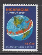 2001 Nicaragua World Post Day Complete Set Of 1 MNH - Nicaragua