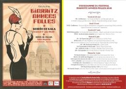 Flyer-programme - Festival Biarritz Années Folles 2018 - 25 Mai - 3 Juin - Programs