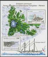 """TAAF Feuillet YT F630 """" Emission Commune Avec Monaco """" 2012 Neuf** - Blocs-feuillets"""