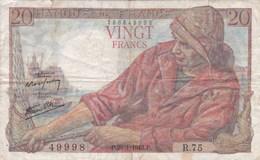 France - Billet De 20 Francs Type Pêcheur - 28 Janvier 1943 - 1871-1952 Anciens Francs Circulés Au XXème