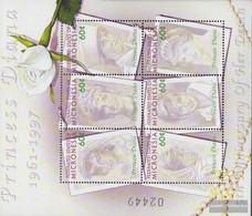 Mikronesien 1305-1310 Sheetlet (complete Issue) Unmounted Mint / Never Hinged 2002 Death Princess Diana - Micronesia