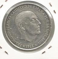 Monnaie, Espagne ,100 Pesetas , 1966 , Francico Franco Caudillo De Espana For La G. De Dios - [ 5] 1949-… : Kingdom