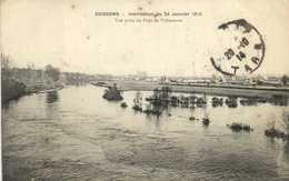 SOISSONS Inondation Du 24 Janvier 1910 Vue Prise Du Pont De Villeneuve RV - Soissons