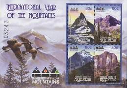 Mikronesien 1312-1315 Minifoglio (completa Edizione) MNH 2002 Anno Il Montagne - Mikronesien