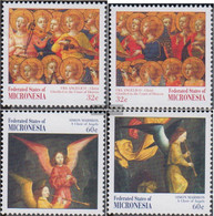 Mikronesien 587-590 (complete Issue) Unmounted Mint / Never Hinged 1997 Christmas Paintings - Micronesia