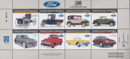 Mikronesien 501-508 Sheetlet (complete Issue) Unmounted Mint / Never Hinged 1996 100 Years Ford - Micronesia