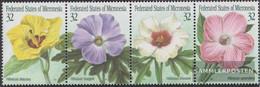 Mikronesien 422-425 Quad Strip (complete Issue) Unmounted Mint / Never Hinged 1995 Hibiskusblüten - Micronesia