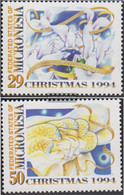 Mikronesien 395-396 (complete Issue) Unmounted Mint / Never Hinged 1994 Christmas - Micronesia