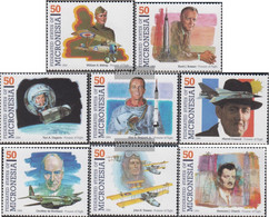 Mikronesien 383-390 (complete Issue) Unmounted Mint / Never Hinged 1994 Pioneers The Aviation - Micronesia