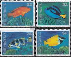 Mikronesien 376-379 (complete Issue) Unmounted Mint / Never Hinged 1994 Fish - Micronesia