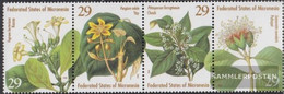 Mikronesien 365-368 Quad Strip (complete Issue) Unmounted Mint / Never Hinged 1994 Flora - Micronesia