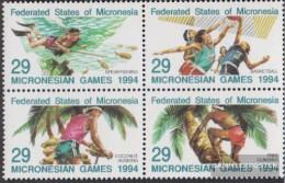Mikronesien 352-355 Block Of Four (complete Issue) Unmounted Mint / Never Hinged 1994 Mikronesienspiele - Micronesia