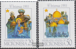 Mikronesien 317-318 (complete Issue) Unmounted Mint / Never Hinged 1993 Christmas - Micronesia