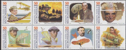 Mikronesien 302-309 Eighth Block (complete Issue) Unmounted Mint / Never Hinged 1993 Pioneers The Aviation - Micronesia