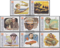 Mikronesien 302-309 (complete Issue) Unmounted Mint / Never Hinged 1993 Pioneers The Aviation - Micronesia