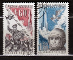 Czechoslovakia 1961 Mi 1280-1281 CTO - Tschechoslowakei/CSSR
