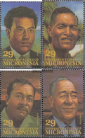 Mikronesien 298-301 (complete Issue) Unmounted Mint / Never Hinged 1993 Personalities - Micronesia