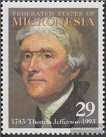 Mikronesien 289 (complete Issue) Unmounted Mint / Never Hinged 1993 Thomas Jefferson - Micronesia