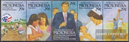 Mikronesien 254-258 Five Strips (complete Issue) Unmounted Mint / Never Hinged 1992 US-Friedenskorps - Micronesia