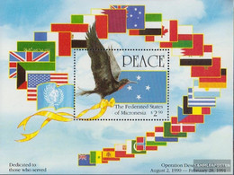 Mikronesien Block9 (complete Issue) Unmounted Mint / Never Hinged 1991 Liberation Kuweits - Micronesia