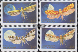 Mikronesien 199-202 (complete Issue) Unmounted Mint / Never Hinged 1990 Moth - Micronesia