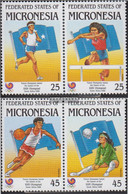 Mikronesien 93-96 Horizontal Couples (complete Issue) Unmounted Mint / Never Hinged 1988 Olympics Summer Seoul'88 - Micronesia