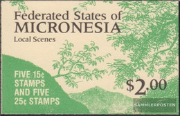 Mikronesien 89D/90D MH (complete Issue) Stamp Booklet Unmounted Mint / Never Hinged 1988 Attractions - Micronesia
