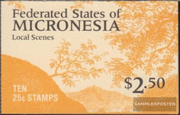 Mikronesien 90D MH (complete Issue) Stamp Booklet Unmounted Mint / Never Hinged 1988 Attractions - Micronesia