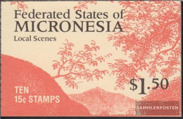 Mikronesien 89D MH (complete Issue) Stamp Booklet Unmounted Mint / Never Hinged 1988 Attractions - Micronesia