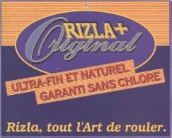 Plaque Publicitaire Carton - RIZLA + Original : Rizla, Tout L'Art De Rouler - Paperboard Signs