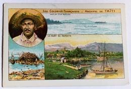 Chromo Bon Point école Archipel De Taïti Tahiti Papeete Série Les Colonies Françaises - Sonstige