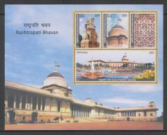 India  2011  Rashtrapati Bhawan / President House  4v  Sovenir Sheet # 62568  Inde  Indien - Churches & Cathedrals