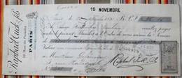 75 PARIS 10e Rue De Paradis RAPHAEL TUCK  37 TOURS  1891, Timbre Fiscal - Imprimerie & Papeterie