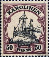 Carolines (German.Colony) 14 With Hinge 1901 Ship Imperial Yacht Hohenzollern - Colony: Caroline Islands