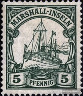 Marshall-Inseln (Dt. Kol.) 14 Con Fold 1901 Nave Imperial Yacht Hohenzollern - Colony: Marshall Islands