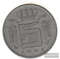 Belgium Km-number. : 130 1941 Extremely Fine Zinc Extremely Fine 1941 5 Francs Leopold III. - 1934-1945: Leopold III
