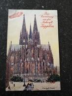 Köln // Tuck's Karte // Zur Erinnerung An Die Ankumft Zeppelins ! Genutzt Köln 1909 Selten - Koeln