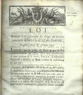 1791 COMMERCE  LOI RELATIVE AUX NEGOCIANTS MARCHANDS BANQUIERS VOIR SCANS - Décrets & Lois