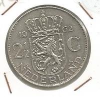 Monnaie, Pays Bas, NEDERLAND , 1962 , 2 1/2 Gulden ,Juliana Koningin Der Nederlanden - [ 3] 1815-… : Royaume Des Pays-Bas
