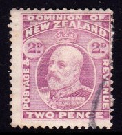 New Zealand 1909 King Edward VII 2d Mauve Used  SG 388 - Oblitérés