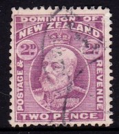 New Zealand 1909 King Edward VII 2d Mauve Used  SG 388 - - 1907-1947 Dominion