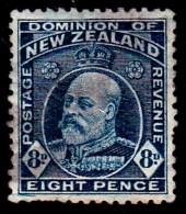 New Zealand 1909 King Edward VII 8d Indigo-blue Used  SG 393 - 1907-1947 Dominion